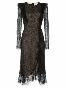 Giambattista Valli lace embroidered midi dress - Black