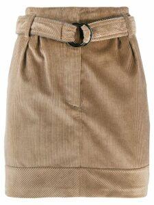 Brunello Cucinelli belted corduroy skirt - Neutrals