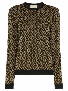 Gucci diamond G logo jumper - Black
