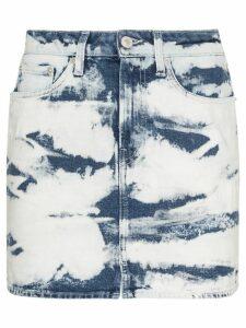 Jeanerica tie-dye denim mini skirt - Blue