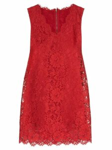 Dolce & Gabbana lace shift mini dress - Red