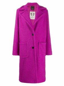 Pinko bouclé coat - PURPLE