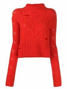 Zoe Jordan distressed effect jumper - Orange