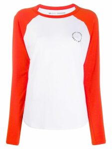 DKNY colourblock panel T-shirt - White