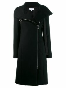 Patrizia Pepe off-centre zipped coat - Black