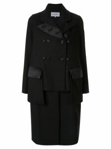 Dice Kayek deconstructed double breasted coat - Black