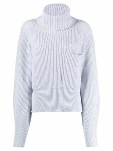 Ssheena oversized roll-neck sweater - Blue