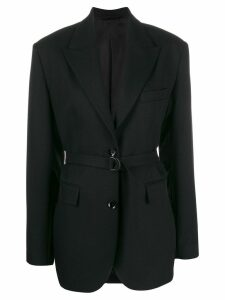 Christian Wijnants belted waist blazer - Black