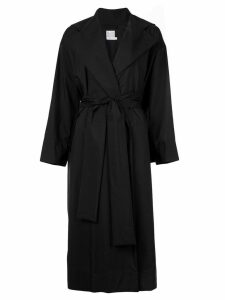 Pleats Please Issey Miyake wide collar trench coat - Black