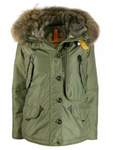 Parajumpers fur trimmed padded coat - Green