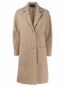 Etro textured wool coat - Neutrals