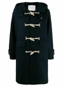 Mackintosh single breasted duffel coat - Blue