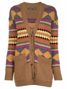 Alexa Chung jacquard knit cardigan - Brown