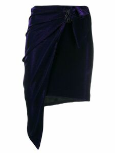 Patrizia Pepe asymmetric wrap skirt - Purple