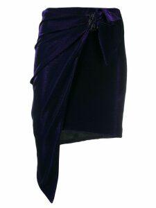 Patrizia Pepe asymmetric wrap skirt - Purple
