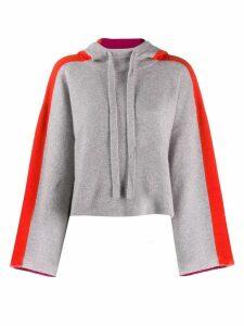 Zoe Jordan cropped hoodie - Grey
