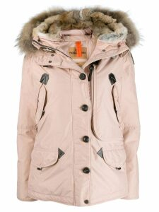 Parajumpers fur trimmed padded coat - Pink
