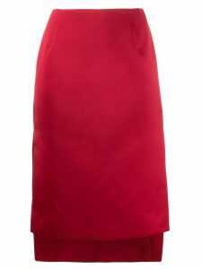 Nº21 step hem skirt - Red