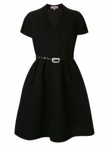 Dice Kayek belted full shape dress - Black