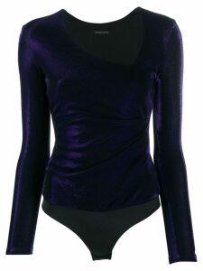 Patrizia Pepe asymmetric neck body - Purple