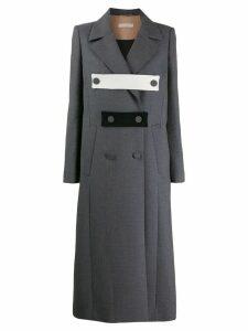 Ssheena long buttoned coat - Grey