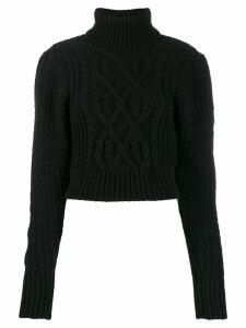 Wandering open back jumper - Black