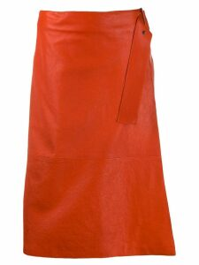 Luisa Cerano A-line midi skirt - Orange
