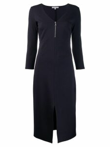 Patrizia Pepe V-neck zipper dress - Blue