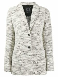 T Jacket chunky knitted cardigan - White