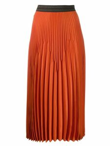 Luisa Cerano pleated midi skirt - Orange