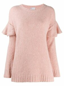 Red Valentino ruffled shoulder jumper - Pink