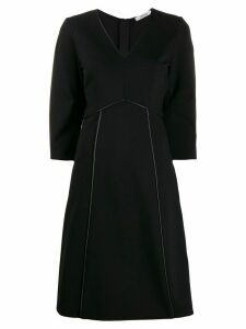 Dorothee Schumacher piped trim dress - Black
