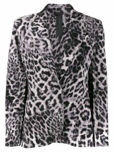 Norma Kamali leopard print blazer - Grey
