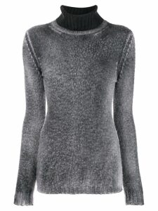 Avant Toi contrast turtle neck jumper - Grey