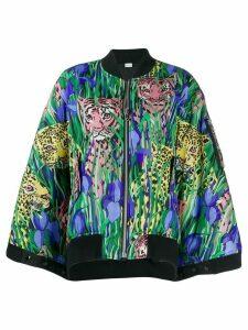 Gucci Feline Garden print bomber jacket - Green