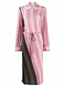 JW Anderson striped polo shirt dress - Pink