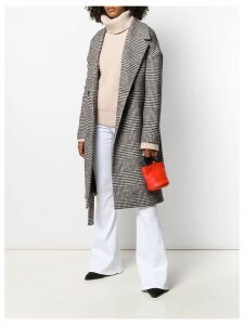 Dondup houndstooth print coat - Black