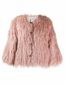 L'Autre Chose faux-fur short jacket - Pink