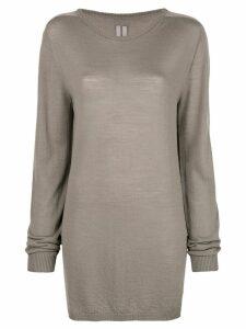 Rick Owens oversized long-sleeve sweater - Grey