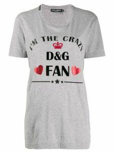 Dolce & Gabbana printed logo t-shirt - Grey