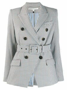 Veronica Beard checked double-breasted blazer - White