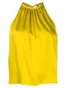 Aspesi pleated halter top - Yellow