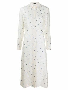 Joseph Turner Scribble Spot dress - White