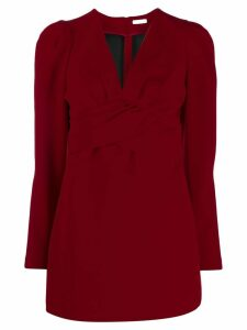 P.A.R.O.S.H. V-neck mini dress - Red