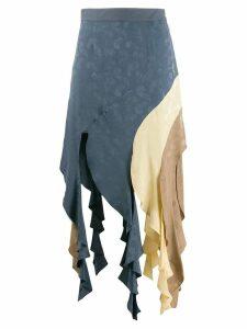 Loewe asymmetric curl skirt - Blue