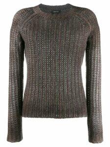 Avant Toi slim fit knit jumper - Neutrals