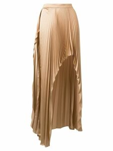Stella McCartney asymmetric pleated skirt - Neutrals