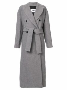 MSGM double-breasted coat - Grey