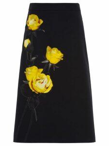 Prada Poplin printed skirt - Black