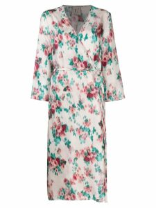 L'Autre Chose floral print crossed dress - Neutrals
